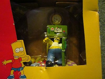 Simpsons Homer Out Of Beer Mini Clock By La Brea 2002