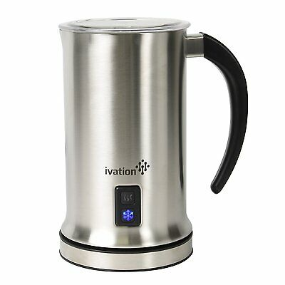 Ivation Cordless Automatic Electric Milk Frother & Warmer, Steamer, Mixer, Cappu