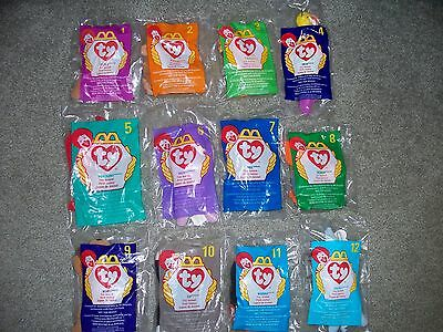 Teenie Beanie Babies from McDonald's - animal collection of 12