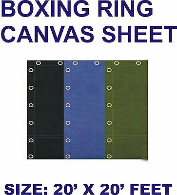 """Boxing Ring Canvas Top Quality 20"""" X 20""""feet In Black,Blue and Green"""