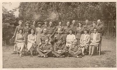 WW2 AuxiliaryTerritorial Service ATS Soldiers Nottingham RP Postcard Military