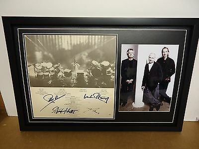 Genesis Hand Signed/Autographed LP Cover with a Photograph & COA
