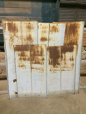 20 Architectural Salvage Vintage Metal Tins Reclaimed Roof Sheet Rustic Patina