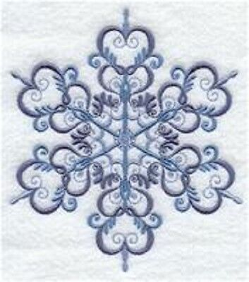 Clearance - Embroidered Quilt Block - Black Snowflake