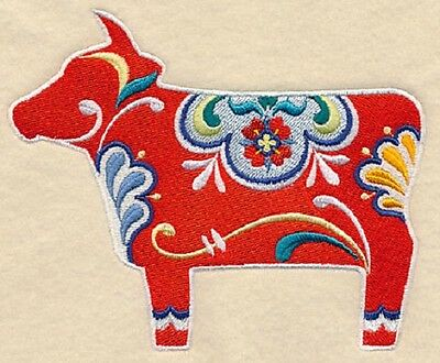 Clearance - Embroidered Quilt Block - Classic Dala Cow