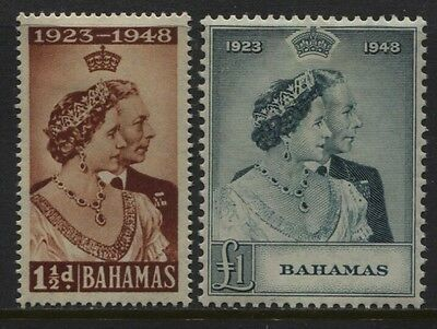 Bahamas 1948 Royal Silver Wedding SC #148-149 MH OG Set