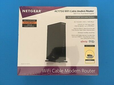 NETGEAR - AC1750 Dual-Band Wireless-AC Router with DOCSIS 3.0 Cable Modem