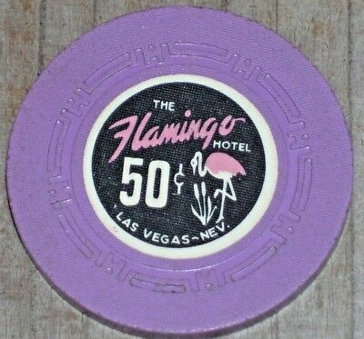 Rare R5 .50 7Th Edt Fractional Chip From The Flamingo Casino Las Vegas Nv