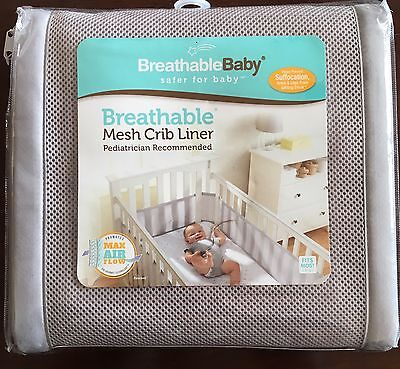Breathable Baby Mesh Crib Liner Pediatrician Recommended New in Package