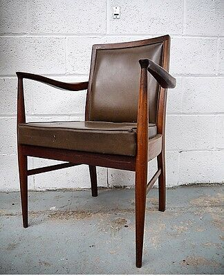 VINTAGE DANISH OFFICE CHAIR G Plan STYLE MID CENTURY Teak NATIONWIDE DELIVERY
