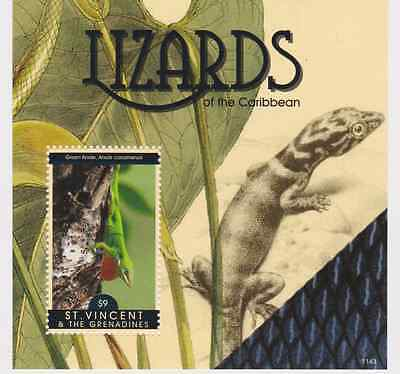 St Vincent - Lizards of the Caribbean, 2011 - S/S MNH