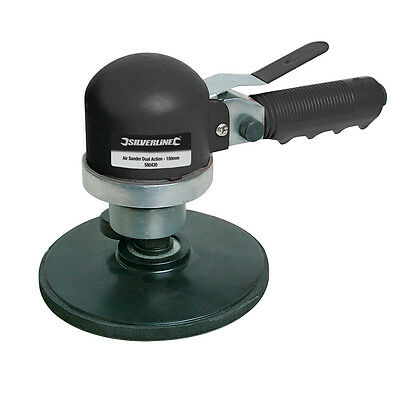 Silverline Dual Action Orbital Air Sander Polisher 150mm Air Tools 580430