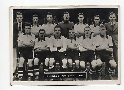 No.16 BURNLEY ARDATH PHOTOCARDS SERIES A - LANCASHIRE FOOTBALL TEAMS 1936