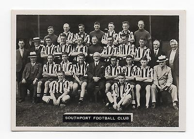 No.29 SOUTHPORT ARDATH PHOTOCARDS SERIES A - LANCASHIRE FOOTBALL TEAMS 1936