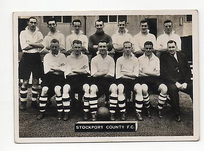 No.93 STOCKPORT C ARDATH PHOTOCARDS SERIES A - LANCASHIRE FOOTBALL TEAMS 1936