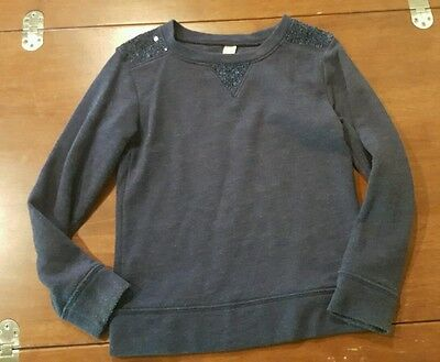 Cherokee Girls Sweatshirt Size Small 6 Play Blue Sequins