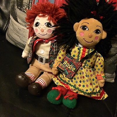 Rosie And Jim Rag Dolls 10 Inch Official