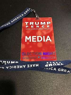 DONALD TRUMP Historical Election Night Victory Party 11/08/16 - MEDIA PASS