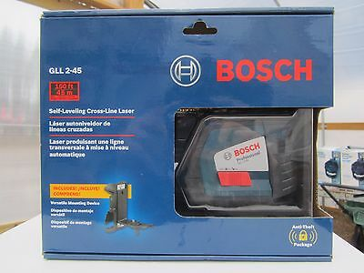 Bosch GLL 2-45 Self-Leveling Long-Range Cross-Line Laser Level