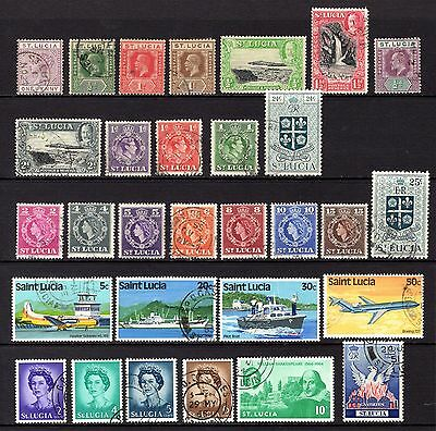 St Lucia Qv To Qe11 Fine To Very Fine Used Range Cat £34+