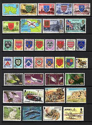 JERSEY GOOD TO FINE USED RANGE x 37 DIFFERENT STAMPS VALUES TO £1