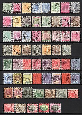 MALAYA & STATES QV TO KGV FINE TO VERY FINEUSED RANGE VARIOUS WMK's CAT £78+