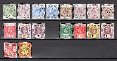 St Lucia Qv To Kgv Fine Mounted Mint Selection See Description For Sg Cat £109