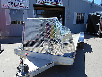 18' 18 ft Aluminum Race Show Classic Car Motorcycle ATV Vehicle Auto Hauler TX