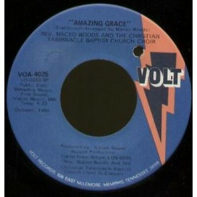 """REV MACEO WOODS AND THE CHRISTIAN TABERNACLE BAPTIST CH Amazing Grace 7"""" VINYL"""