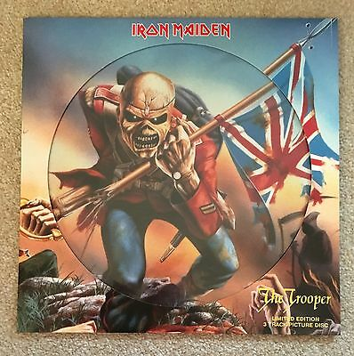 """Iron Maiden Trooper 12"""" Vinyl Record Single Limited Edition Picture Disc Metal"""