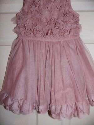 NEW! NEXT! GIRLS PINK FLOWER PARTY DRESS 3-4 years
