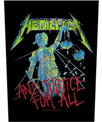 METALLICA BACK PATCH New Official ...AND JUSTICE FOR ALL