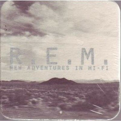 REM New Adventures In Hi Fi COASTER Promo Only Square Card Coaster Approx 9 X 9