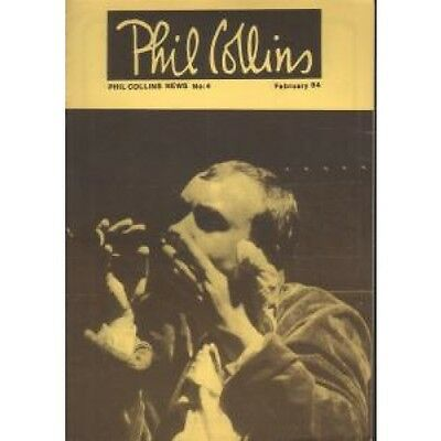 PHIL COLLINS News 4 FANZINE February 1984 Black And White Fanzine With Yellow