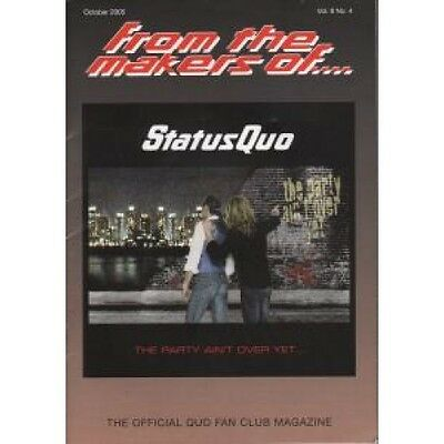 STATUS QUO From The Makers Of Vol.8 No.4 FANZINE A5 Official Fan Club Magazine