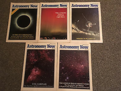 Astronomy Now Magazine Volume 2 Issues 1 to 4 and 6