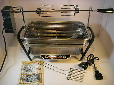 Farberware Open Hearth Electric Broiler Rotisserie Indoor Grill