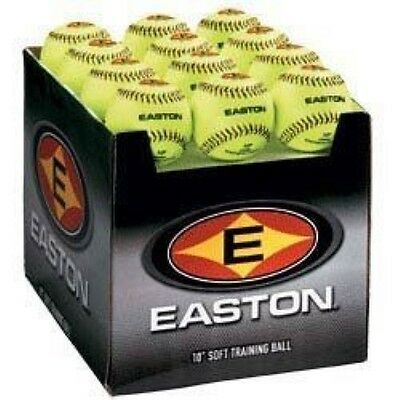 """Easton Case with Quantity of 24 Soft Training Balls, Neon, 12"""""""