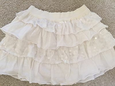 White Sparkly Sequined Party Skirt From Gingersnaps Size 4