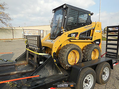 2015 Cat 226B3 Skid Steer Loader With Trailer And Attachments
