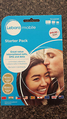 Lebara $49.90 Starter Pack with unlimited call to most counties and 2.5GB data