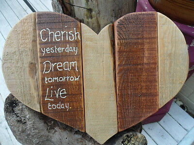 Hand Made Wooden Wall Plaque. Shabby Chic