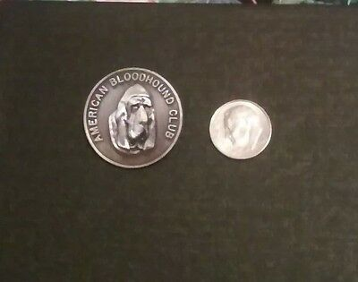 American Bloodhound Club Dog Jewelry Pin Pewter Color Excellent Condition