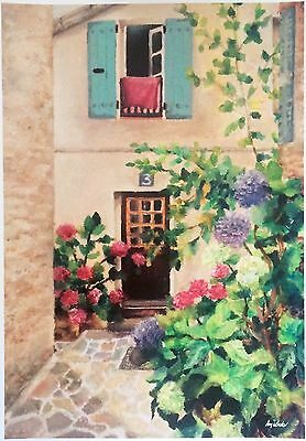 French Provincial Painting Hydrangea Artwork HAND SIGNED A4 ART PRINT AnjaBecker