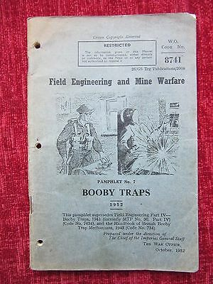 1952 Booklet Field Engineering Booby Traps Pamphlet No.7 Home Front FC45