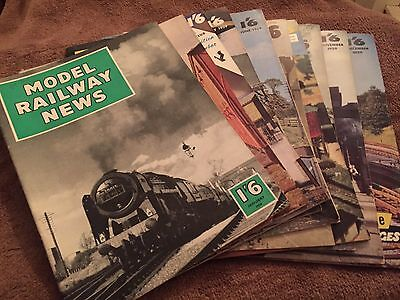 Model Railway News 10 Issues 1959. Excellent Condition