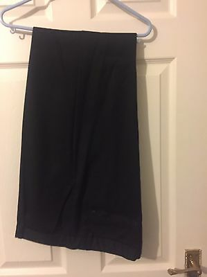 "Boys Black M&S School Trousers 34"" Waist"