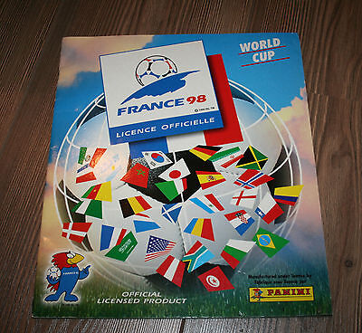 PANINI FRANCE 98 WORLD CUP ALBUM WITH 110 stickers