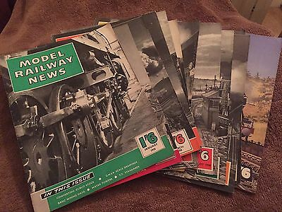 Model Railway News Magazine 1958 12 Editions. Excellent Condition