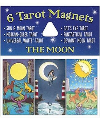 NEW 6 Tarot Magnets The Moon